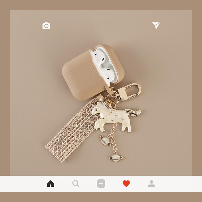 Lindo sueño Unicorm encanto para Apple airpods Auriculares inalámbricos con Bluetooth estuche auricular de silicona chica cubierta anti-Pérdida caso