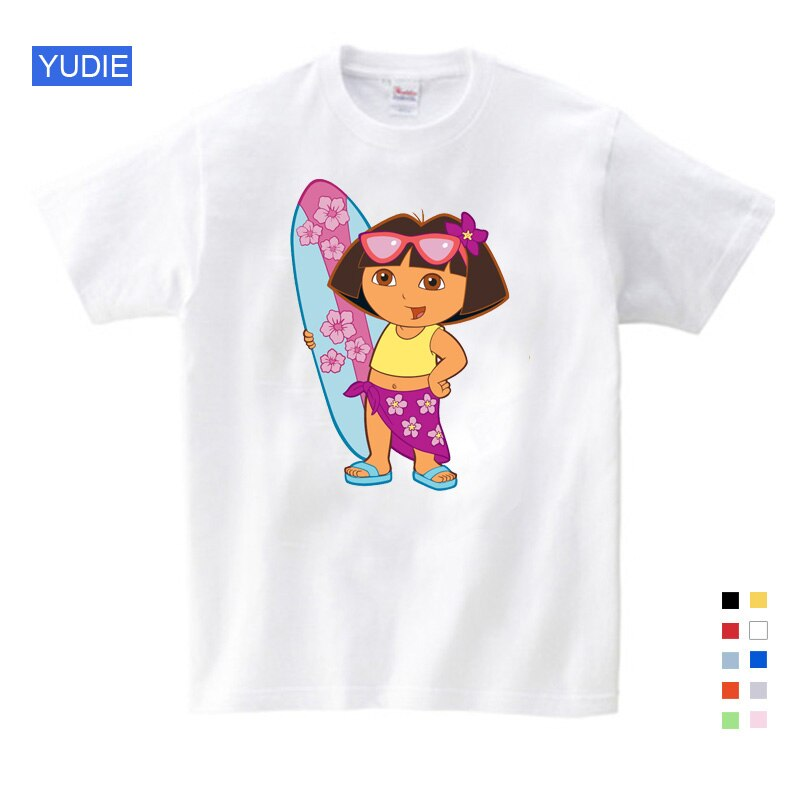 Girls t shirt pink for kids clothing Tops Children and Shirt for Girls Sweet Lovely Style T Shirt Cute Cartoon Girl Summer Tops