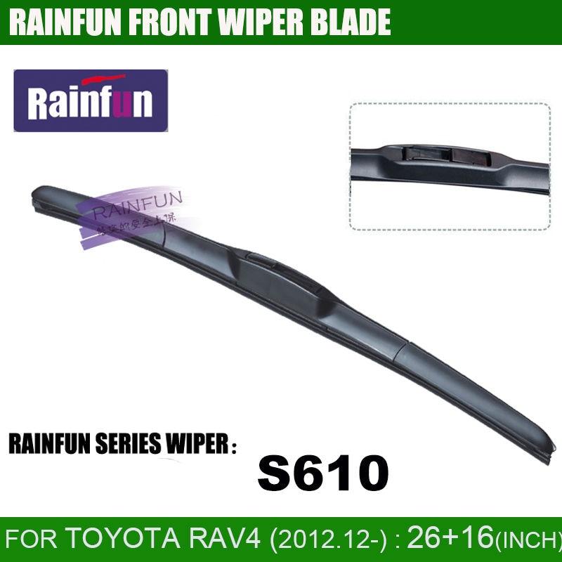 RAINFUN dedicado lâmina de limpeza do carro para TOYOTA RAV4, RAV-4 CA40 (13-), 26 + 16 INCH auto limpador com borracha natural de alta qualidade