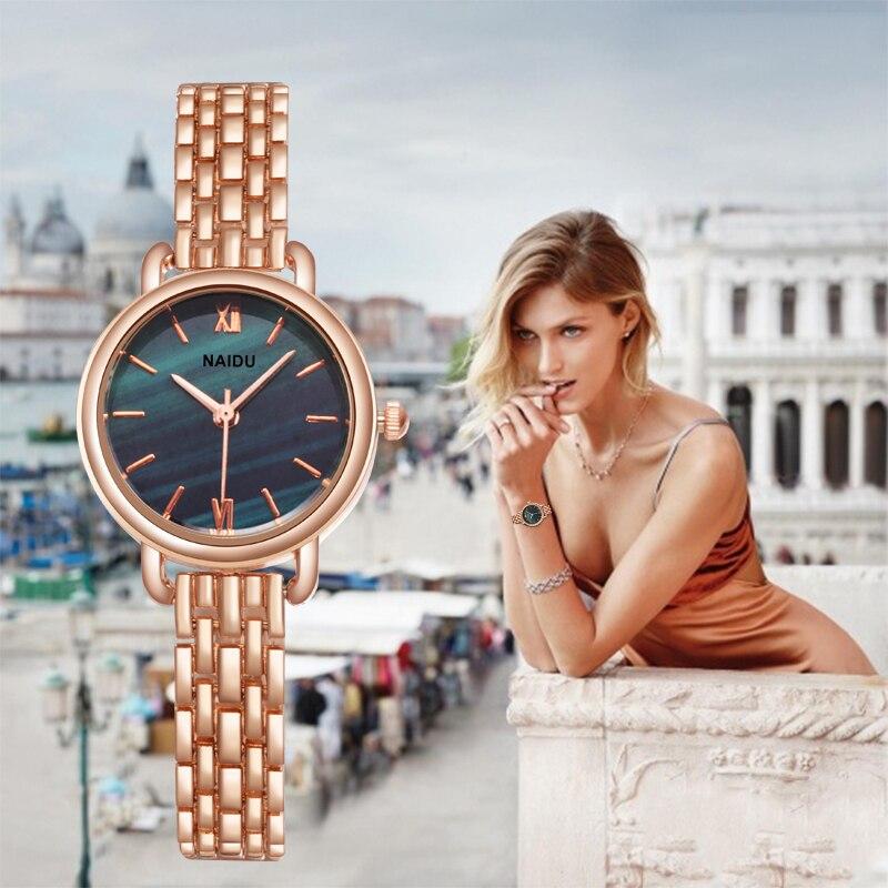 2020 luxo rosa ouro mulheres relógios minimalismo moda à prova dminimalism água roman numeral designer senhoras relógio casual feminino relógio de pulso