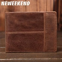 fathers day gift wallet leather genuine cowhide retro soft men can hold cash coins for men hand holding wallet for 8064