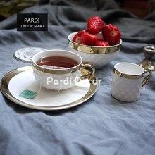 Italië Stijl Prismatische Gilt Koffie Mok/Thee Cup/Dessertbord/Kom Decoratie Servies 1 Stk/partij