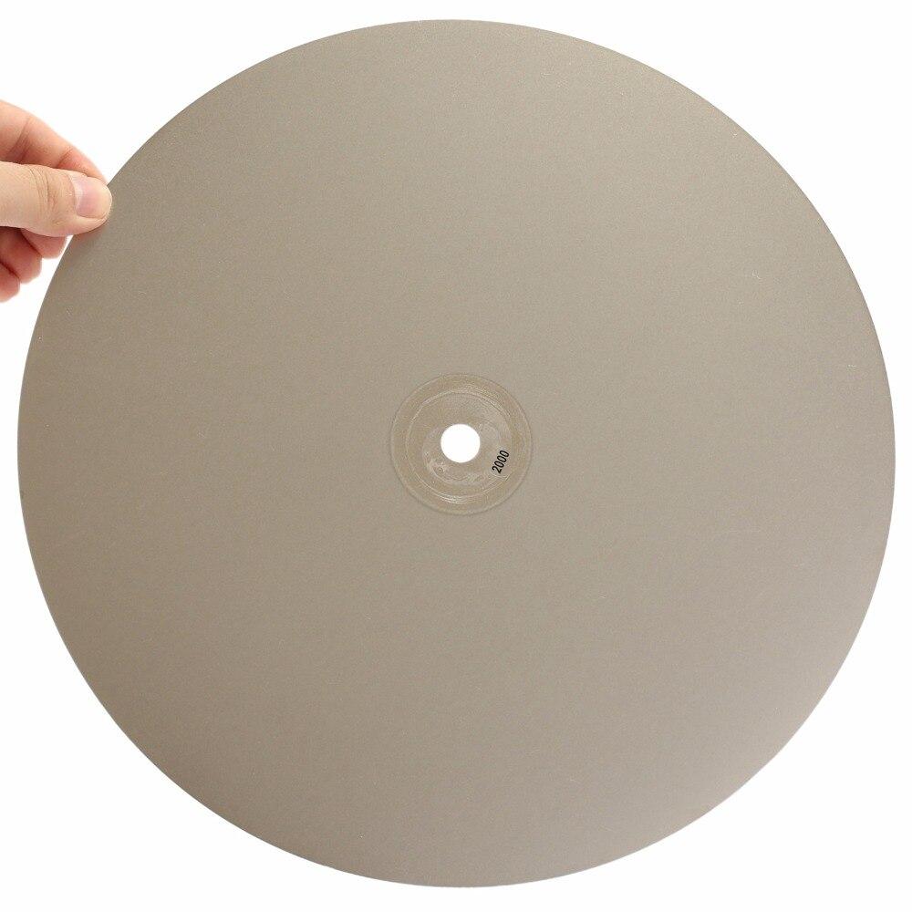 Алмазный шлифовальный диск, абразивные диски с покрытием, плоский диск, инструменты для ювелирных изделий, драгоценный камень, стекло, 12 дюймов, 300 мм, 46-2000
