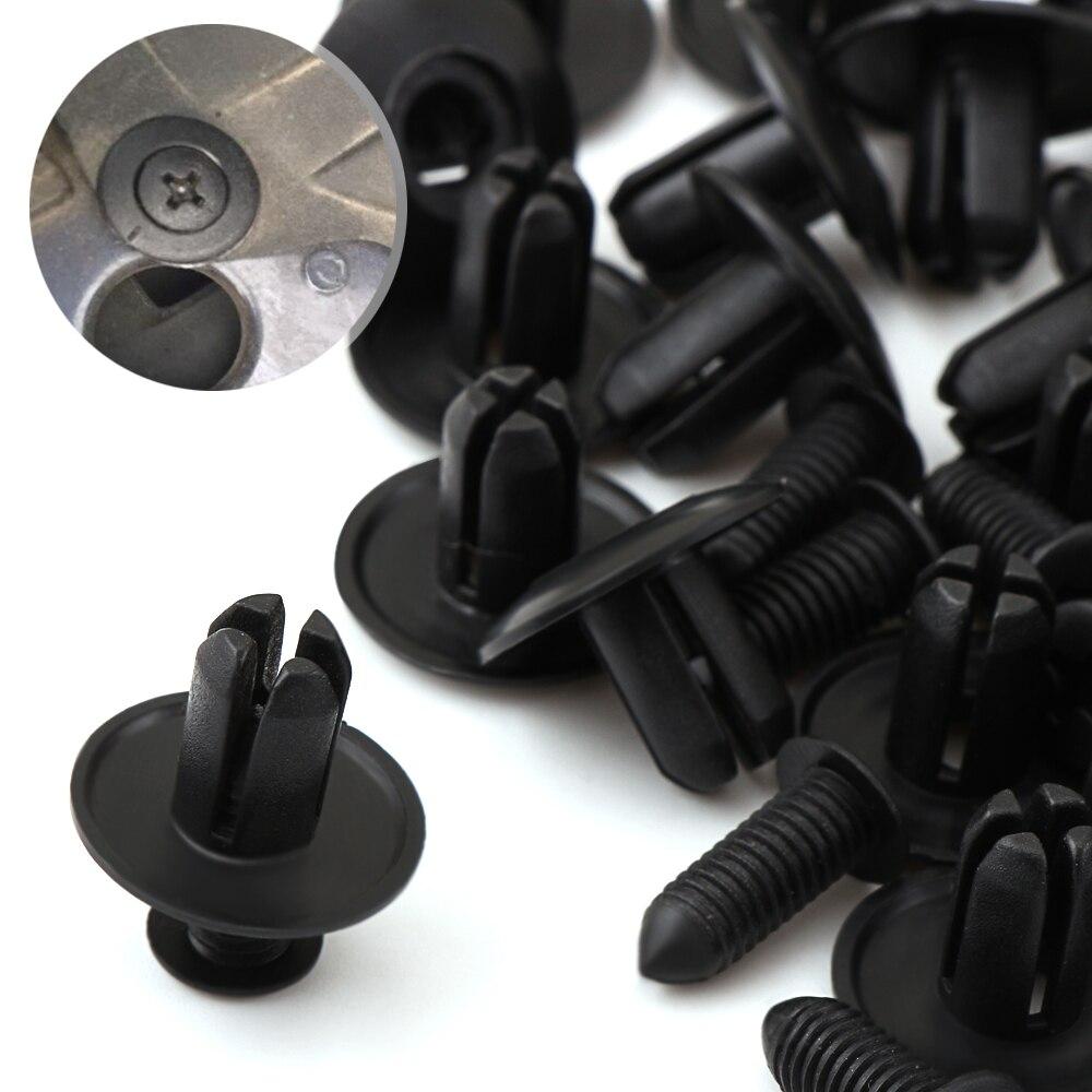 50 pçs 6mm prendedor de carro amortecedor capa parafuso rebite clipes para suzuki sx4 swift alto liane grand vitara jimny s-cross