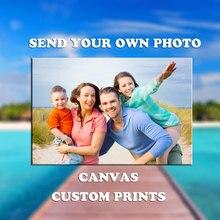 Photo de votre famille, des amis ou de bébé   Image préférée personnalisée imprimée sur toile, peinture murale, images décoratives, en cadeau