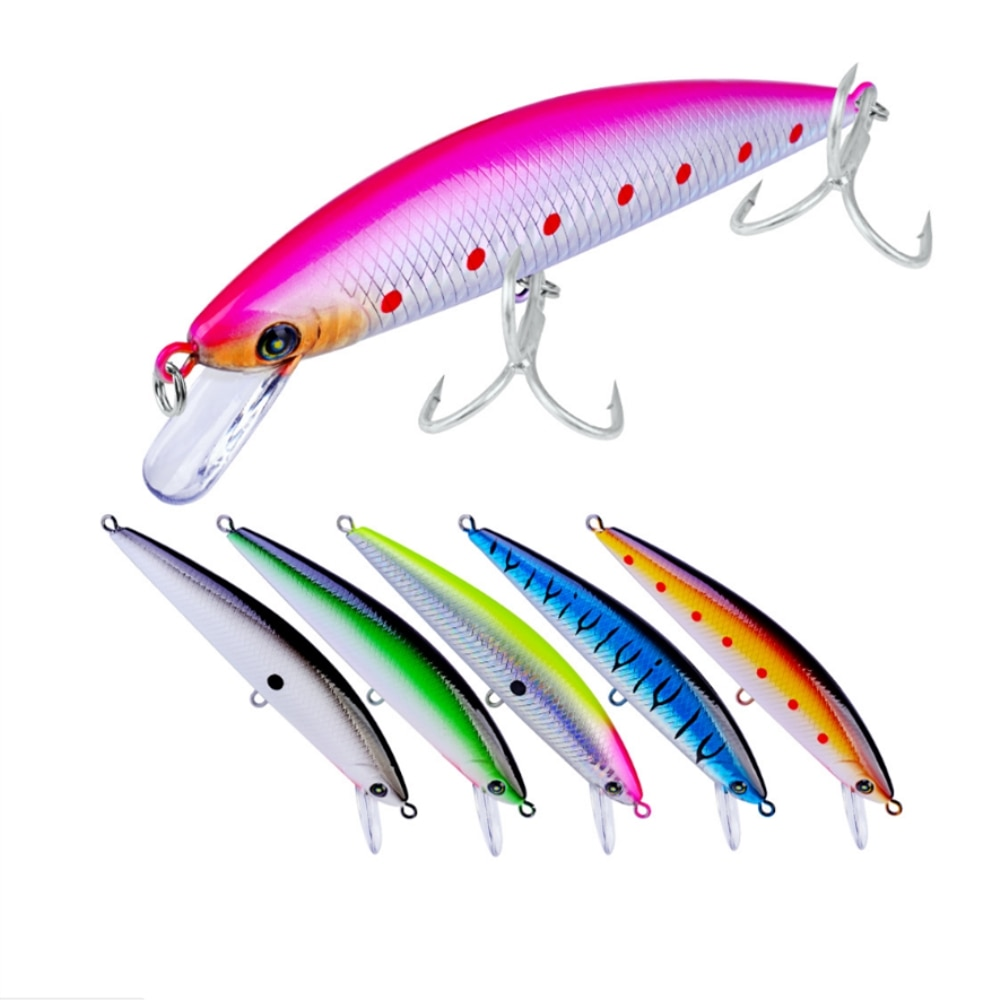 1 pçs 13cm 41g minnow isca de pesca peixe wobbler tackle crankbait artificial japão duro isca nadar iscas 2 # ganchos pesca equipamento