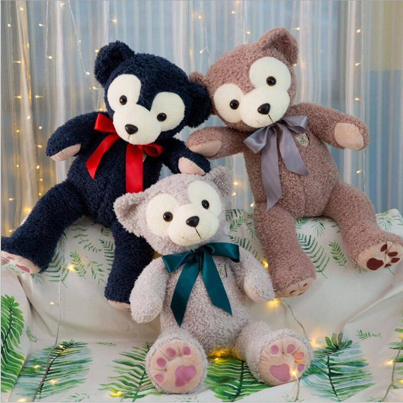 New Style Ribbon Bear Short Plush Toy Stuffed Animal Plush Doll Birthday Gift Send to Children & Girlfriend