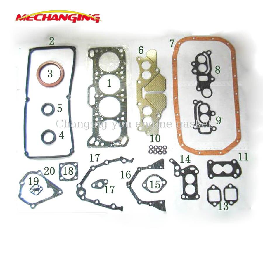 Para mitsubishi colt ii ou lancer ou proto saga 1.3l 4g13 g13b peças de motor conjunto completo junta do motor md997112