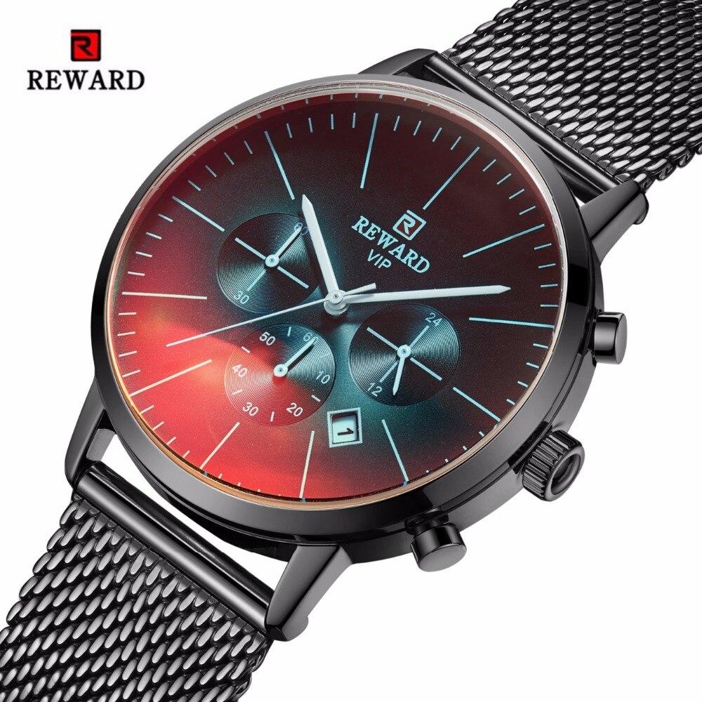 Reloj de recompensa a la moda con cronógrafo colorido para hombre, relojes impermeables para hombre, reloj para hombre