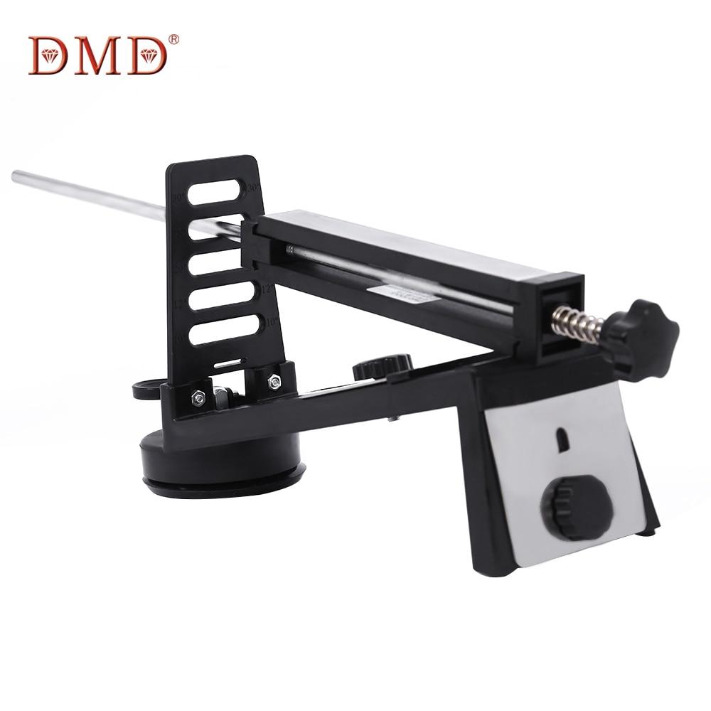 Sistema de afilador de cuchillos de ángulo fijo DMD con 3 piedras de afilar 240/600/1000 todo para arena de cocina para afilar cuchillos