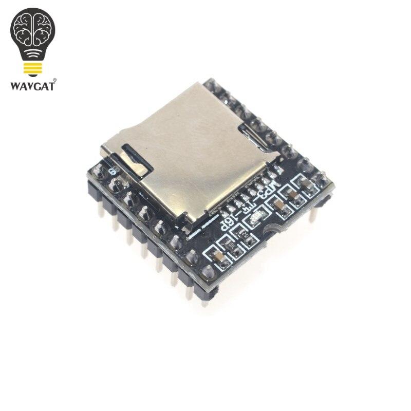 Mini Módulo de reproductor MP3 tarjeta TF U disco Mini reproductor MP3 Módulo de voz de Audio tablero para Arduino DF Play WAVGAT al por mayor