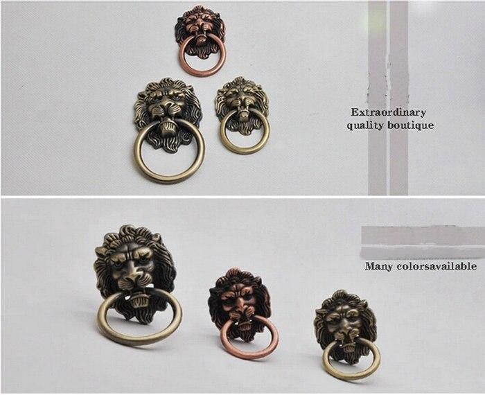 3 шт./лот кольцо в форме льва из цинкового сплава вытяжной шкаф ящик для шкафа