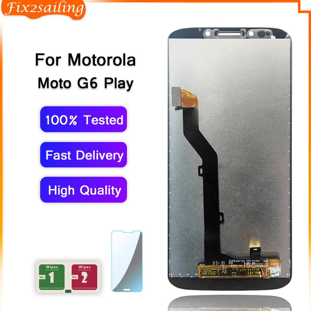 Display LCD Para Motorola Moto G6 Jogo da Tela De Toque Digitador Assembléia Tela Para Moto G6 Jogar XT1922 XT1922-3 XT1922-4 LCD
