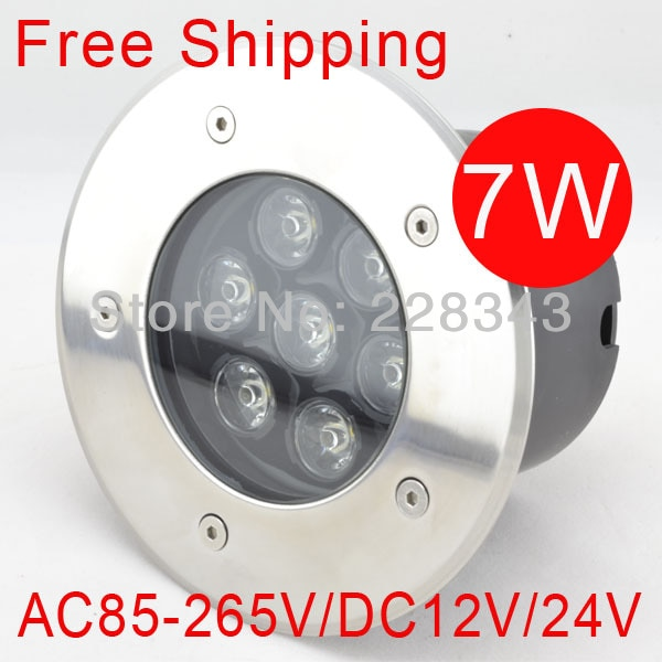 Free Shipping, 7w AC85~265V, High Power LED Underground Light Waterproof IP65 Outdoor led Lamp