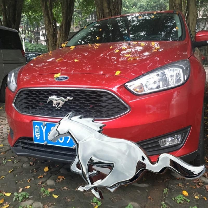 Nueva pegatina de Metal 3D de 20,5 cm para coche con diseño de caballo corriendo, emblema, insignia cromada, pegatina para coche, diseño para Ford, MUSTRNG, Ferrari, ventana de coche