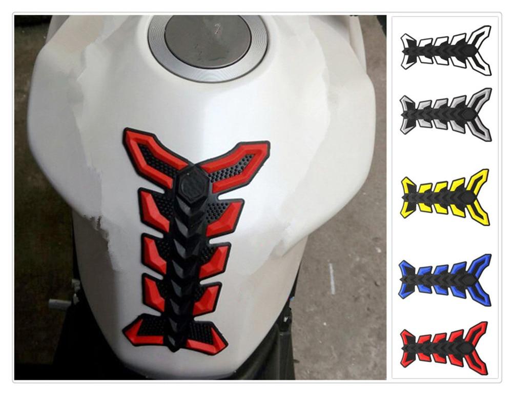 Almohadilla de goma 3D para motocicleta, tanque de combustible y aceite, pegatina protectora para YAMAHA XP500 XP530 FZ600 SRX600 XJ600 FZ400 R FZX700