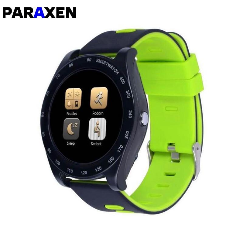 PARAXEN Z1-reloj inteligente deportivo, deportivo con pantalla redonda de 1,54 pulgadas y tarjeta SIM TF, reloj con cámara, reloj de pulsera para Android iOS