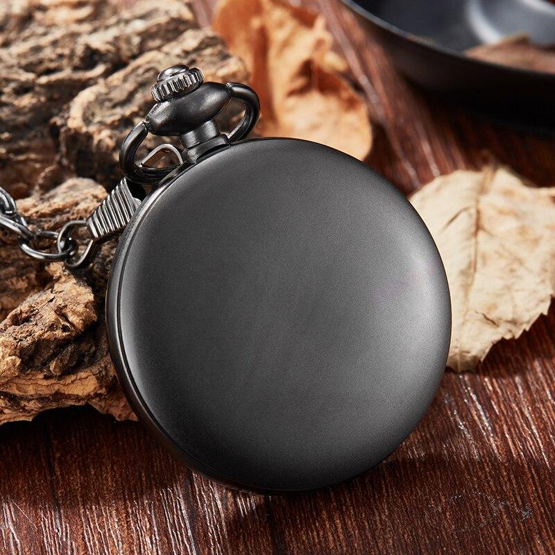 Reloj de bolsillo mecánico negro de lujo para hombre, reloj con números romanos, reloj mecánico de oro, reloj de mano con viento, colgante de cadena