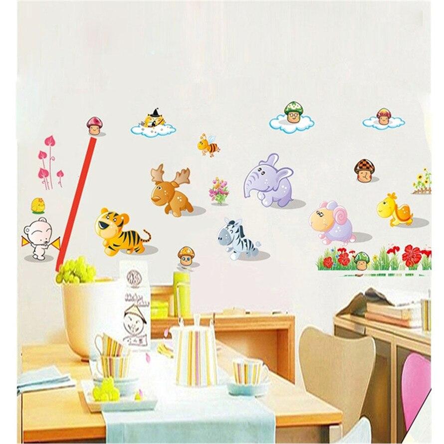 Adhesivo De pared 2019 DIY Muraux Adhesivo De pared DIY dibujo animado Animal fiesta cuarto De niños dormitorio Crianca Stiker Decal # ph25