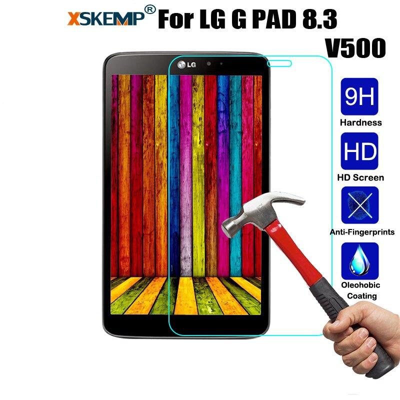 XSKEMP Tablet Marca Original Real de Vidro Temperado Film Para LG G PAD 8.3 V500 9 H LCD Anti-shatter À Prova de explosão-Guard Protective