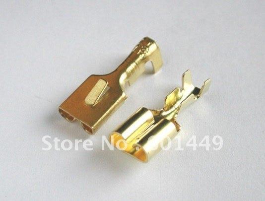 100PCS Automotive Electrical terminal female Male connector Copper terminal H62Y2 Phosphor Bronze DJ621-E6.3A/B