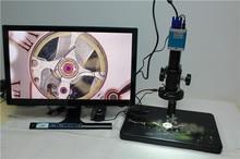 Microscopio Electrónico de interfaz dual VGA USB 180 veces microscopio industrial 9 cm de ancho Almacenamiento de tarjeta SD