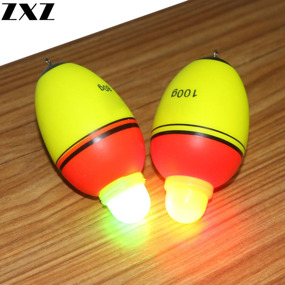 5Pcs Double Optical Interchange Night Led Electronic Luminous Sea Fishing Float Long Shot Drift Rod Stopper Floats Light Pesca