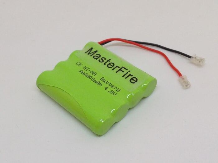 2 pack/lote nuevo MasterFire AAA 4,8 V 800mAh NI-MH batería recargable NiMH paquete de baterías con enchufes