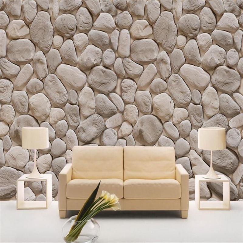 Papel tapiz grande personalizado Beibehang, metal, archaize de mampostería, piedra de pared 3d, sala de estar, dormitorio, tapiz de pared con fondo en 3d