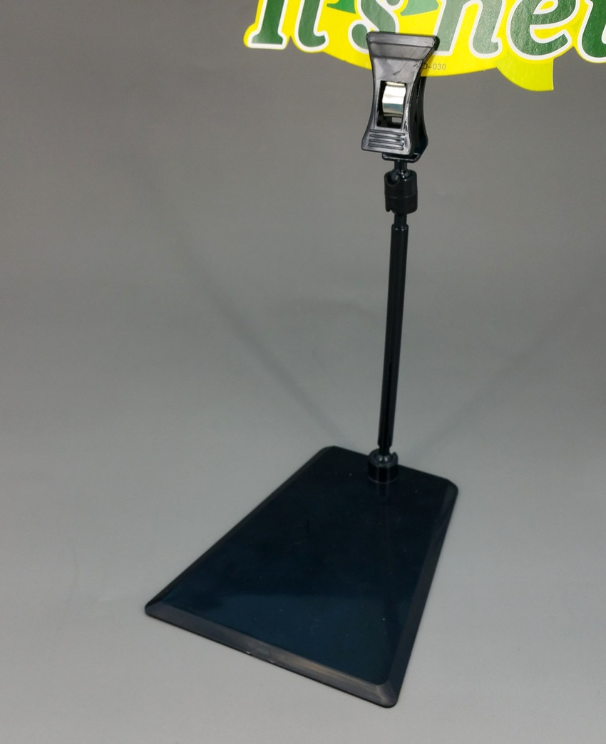 POP Plastic Display Sign Paper Advertising Card Price Tag Holder Clip Stand Height 157mm In Black 1000pcs