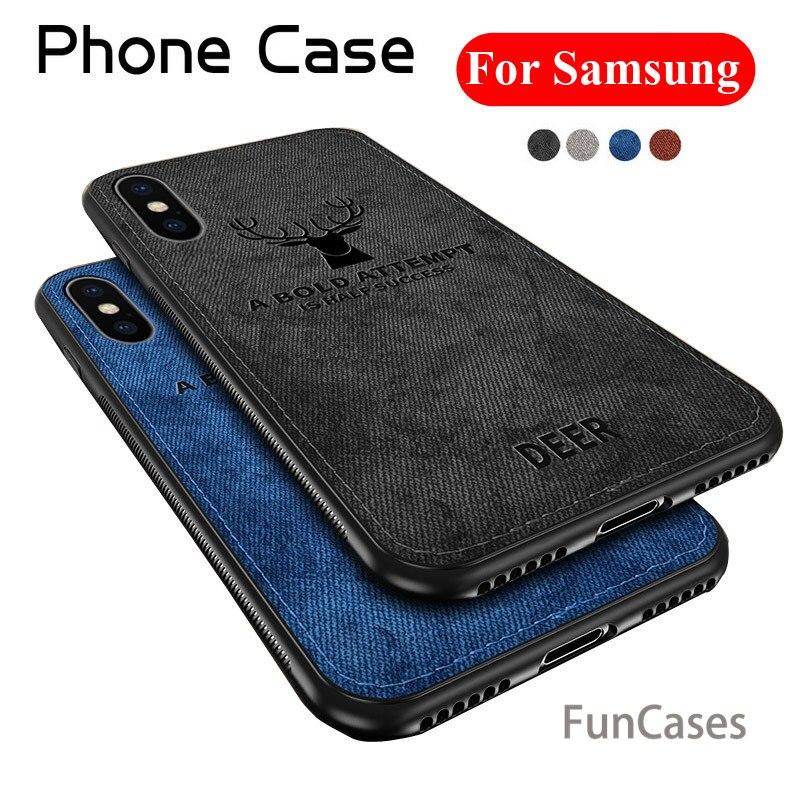 Suave TPU borde teléfono caso para Samsung A6 2018 A6 A8 Plus 2018 A9 Star Lite J3 J5 J7 Pro J6 J600 J4 caso cubierta de tela de A6 A8 J6