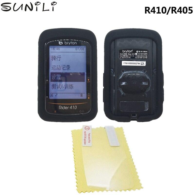 Sunili-funda protectora de pantalla para Bryton Rider 410, 405, con GPS, cubierta de calidad para ordenador, para Bryton R410 R405