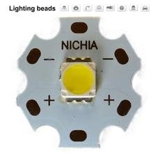 80 pièces NICHIA Cree MKR MK-R LED 5060 émetteur 3W 3V blanc chaud lampe torche Diode LED puce lumière 280LM sur 20mm cuivre PCB