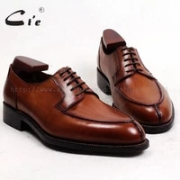 cie free shipping bespoke custom handmade genuine calf leather outsole breathable lacing mens derby shoe brown goodyear no d143
