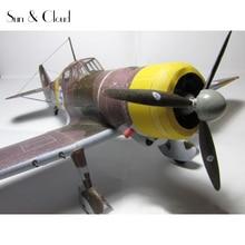 1:32 DIY 3D Fokker D.XXI Fighter Plane Aircraft Paper Model Assemble Hand Work Puzzle Game DIY Kids Toy Denki & Lin