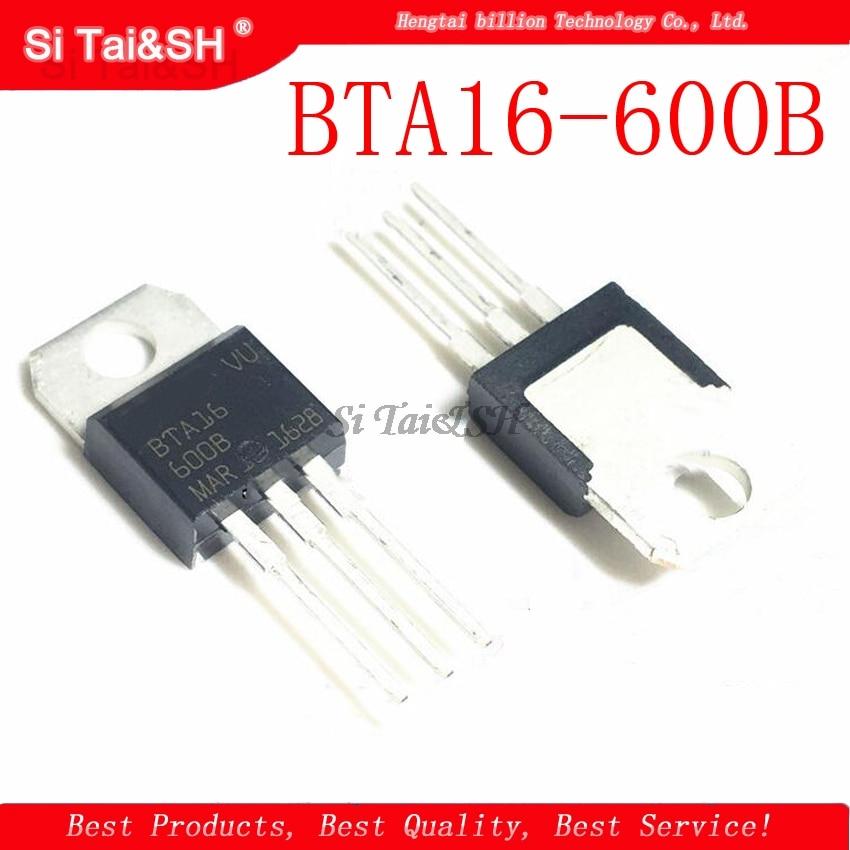 10 unids/lote BTA16-600B-220 BTA16-600 BTA16 Triac 16 Amp 600 voltios original nuevo