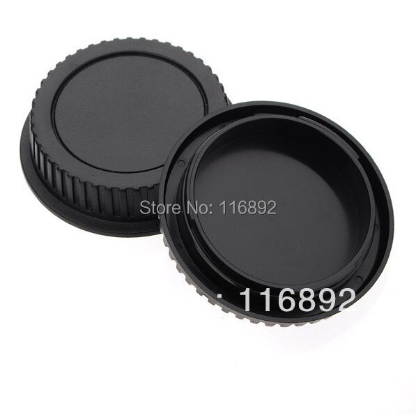 1 par de tapa del cuerpo de la Cámara + tapa de la lente trasera para Canon 1000D 500D 550D 600D EF EF-S Rebel T1i eos cámara
