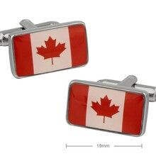 Factory Price Retail Men's Fashion Cufflinks Brass Material Canada Flag Design Cuff Links