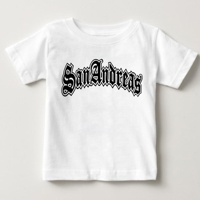 Niños gran robo de Auto carta camiseta niño y niñas manga corta GTA5 camiseta niños 100% algodón camiseta Tops bebé GAT1 T camisa NN