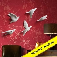 1pcs fashion resin muons stereo wall decoration tv background wall bedroom wall stickers