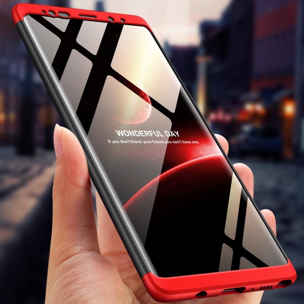 Nota 9 caso 360 grado completo gota prueba mate cubierta de la caja para disco duro Samsung Galaxy Nota 9 SM-N960 SM-N9608 SM-N9600 SM-N960U