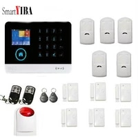 SmartYIBA     systeme dalarme de securite domestique sans fil  wi-fi  GSM  avec sirene stroboscopique  pour application Android IOS  GPRS  SMS
