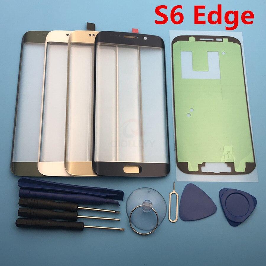 Vidrio externo de repuesto para Samsung Galaxy S6 Edge G925 G925F LCD pantalla táctil cristal frontal lente externo