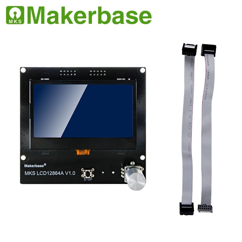 MKS LCD12864A شاشة مدمجة تحكم ذكي وحدة ألواح شمسية دعم ل MKS سلسلة ramps 1.4 اللوحة الأم ثلاثية الأبعاد جزء الطابعة