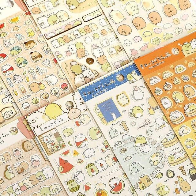 New 1 Pcs/pack Kawaii Scrapbooking Corner Creature Ver 3 Planner Stickers/decoration Label/cartoon Korea Stationery/san-x