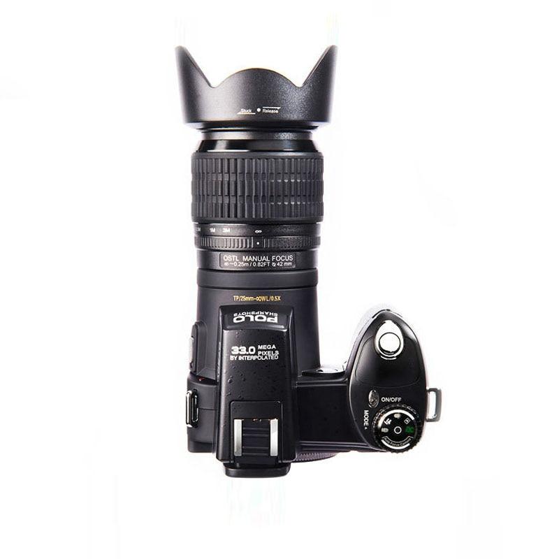 Cámara Digital HD PROTAX POLO D7100 Resolución de 33 MP enfoque automático cámara de vídeo profesional SLR 24X Zoom óptico con tres lentes