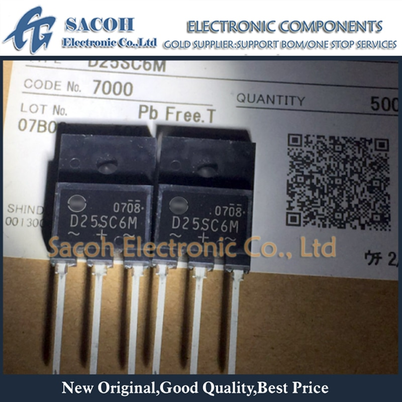 Free Shipping 10Pcs D25SC6M D25SC6MR S25SC6M DF25SC6M 25SC6M TO-3PF/TO-3P/TO-263 25A 60V Schottky Rectifiers