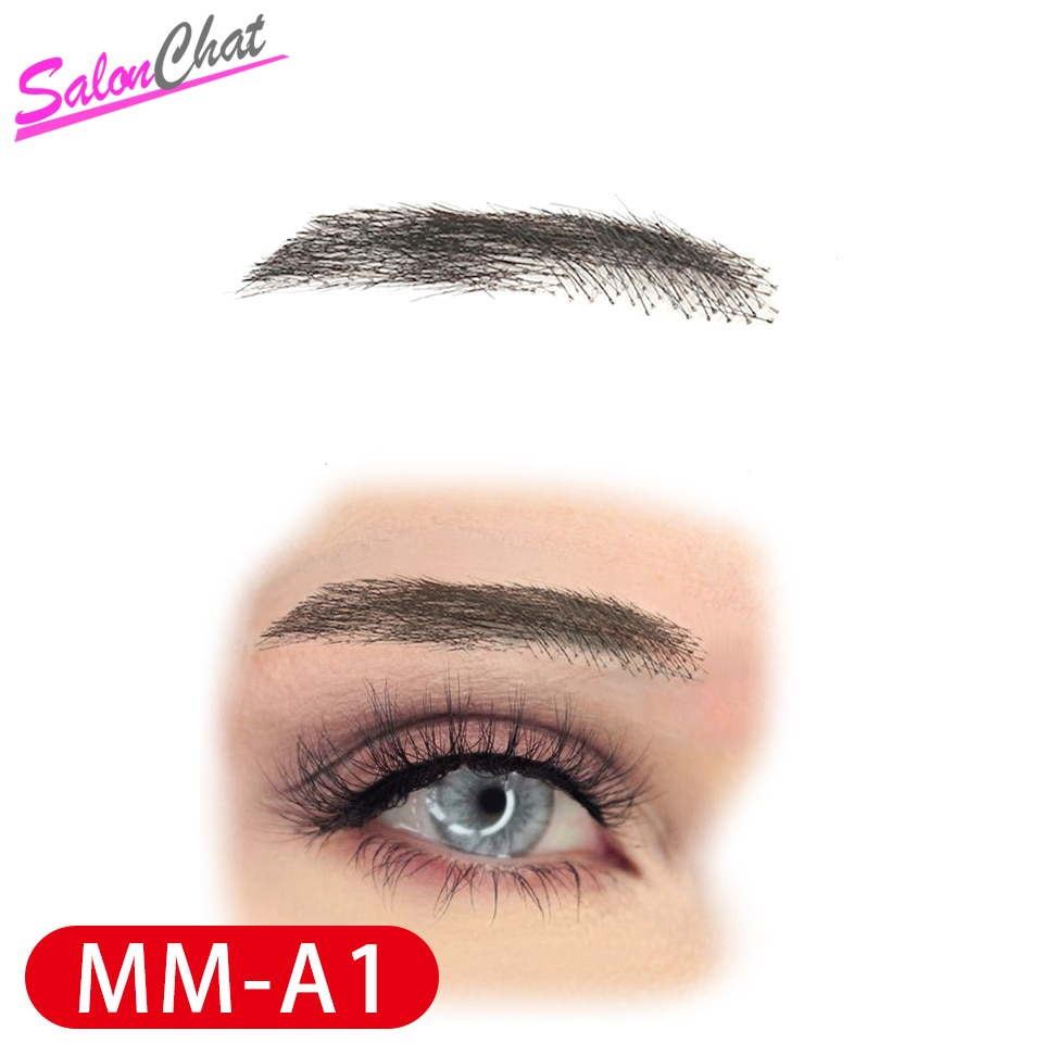 salonchat hand tied false lace eyebrows 100% human hair eyebrows human hair invisible handmade fake eyebrows for women man SalonChat Hand Tied False Lace Eyebrows 100% Human Hair Eyebrows human Hair invisible Handmade Fake Eyebrows For Women/Man