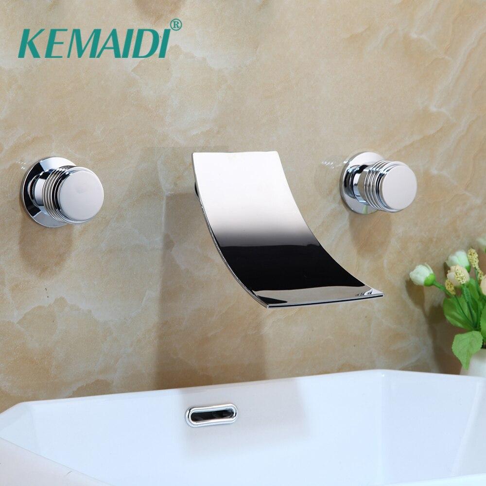 KEMAIDI حوض استحمام للاستخدام في الحمام الشلال الباردة والساخنة المياه خلاط صنبور حوض استحمام الحنفية شلال حمام دش الحنفيات مجموعات