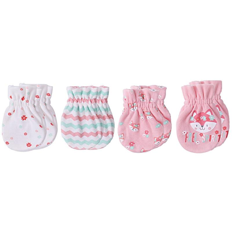 От 0 до 6 месяцев Детские аксессуары хлопковые детские варежки и милые перчатки